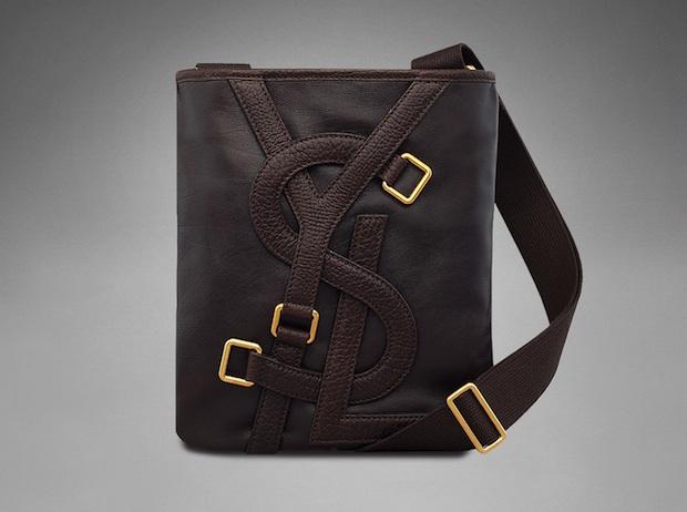 Yves Saint Laurent: Small Brown \u0026#39;Vavin\u0026#39; Leather Messenger Bag ...